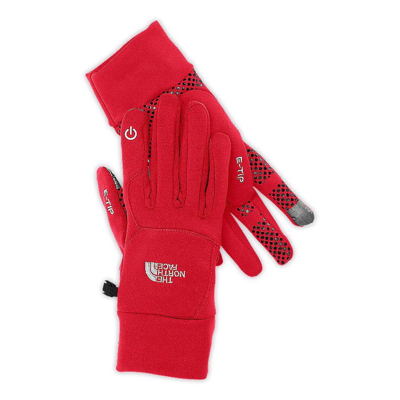 NORTH FACE ETIP GLOVE TNF RED