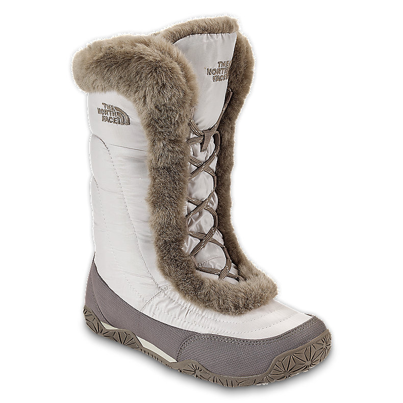 NORTH FACE WOMEN NUPTSE FUR IV BOOT SHINYMOONLTIVR / CLASSIC KHAKI