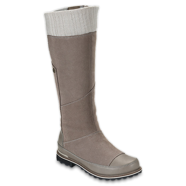 NORTH FACE WOMEN SNOWTROPOLIS TALL MUDSPRING BROWN / FOSSIL IVORY