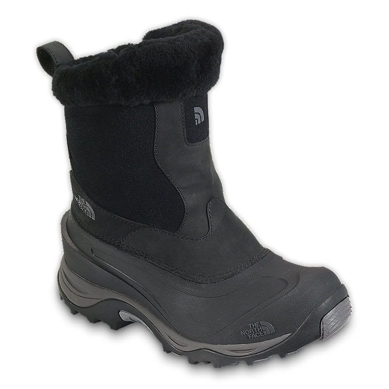 NORTH FACE WOMEN GREENLAND ZIP II BOOT BLACK / DARK GULL GREY