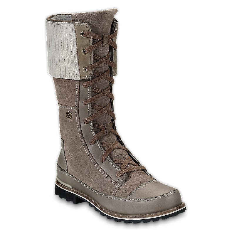 NORTH FACE WOMEN SNOWTROPOLIS LACE MUDSPRING BROWN / FOSSIL IVORY