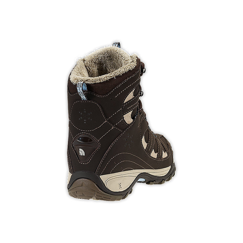NORTH FACE WOMEN SNOW-DRIFT TALL BOOT CUB BROWN / DREAM BLUE