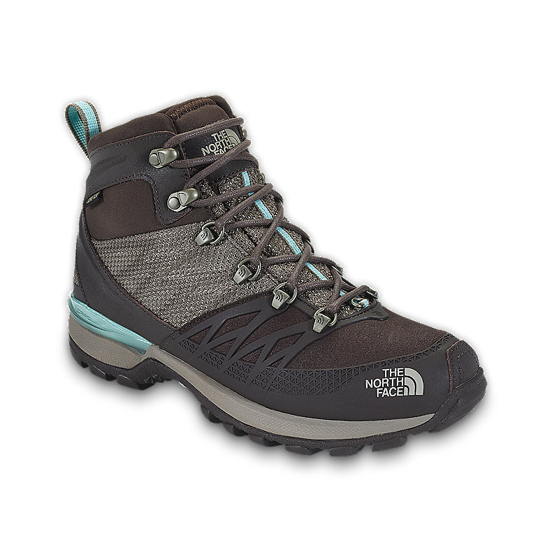 NORTH FACE WOMEN ICEFLARE MID GTX COFFEE BROWN / SISLEY BLUE
