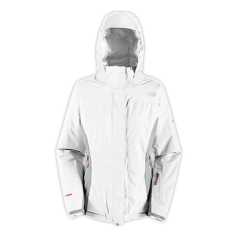 NORTH FACE WOMEN PLASMA THERMAL JACKET TNF WHITE / METALLIC SILVER