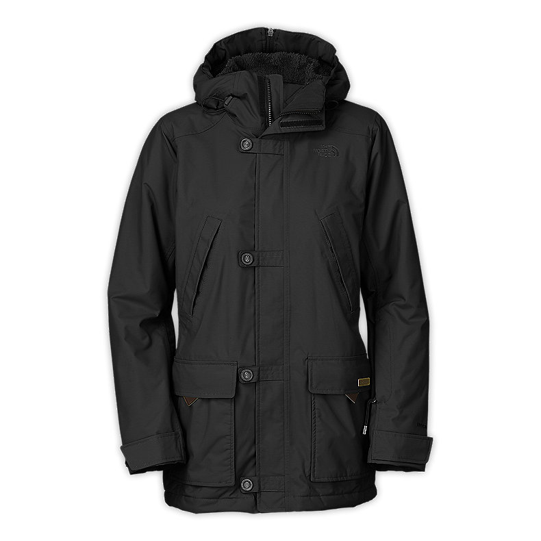 NORTH FACE WOMEN HONEE SNUGS DELUX PARKA TNF BLACK