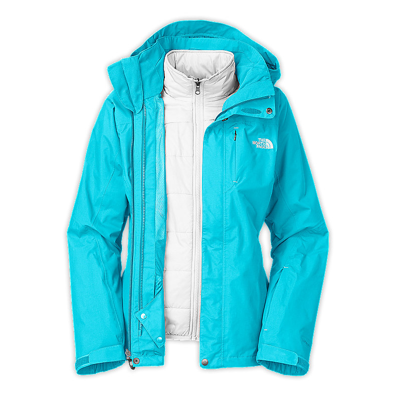 NORTH FACE WOMEN DEUCES TRICLIMATE JACKET TURQUOISE BLUE