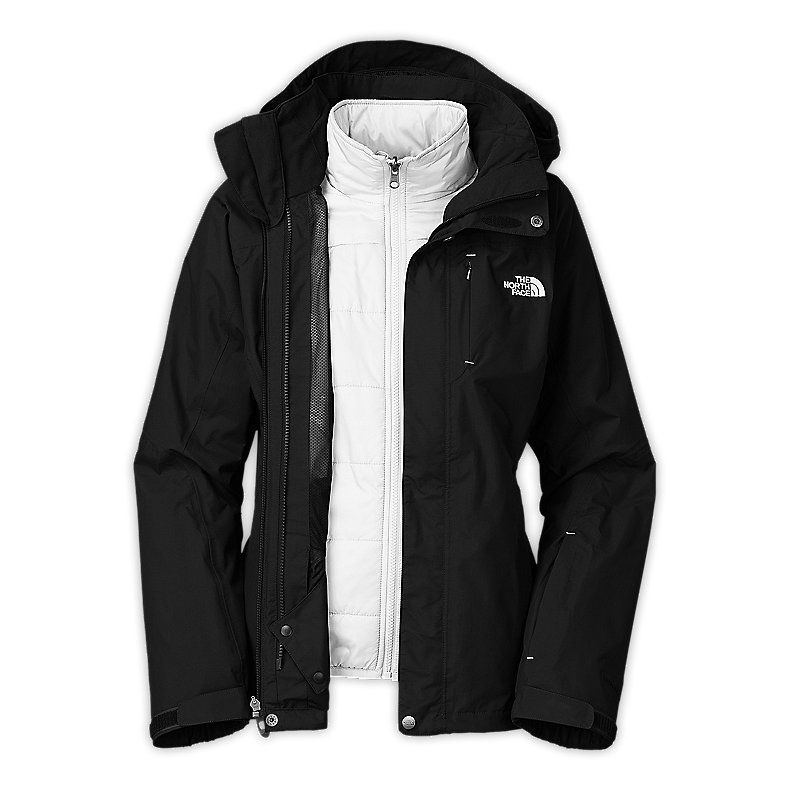 NORTH FACE WOMEN DEUCES TRICLIMATE JACKET TNF BLACK