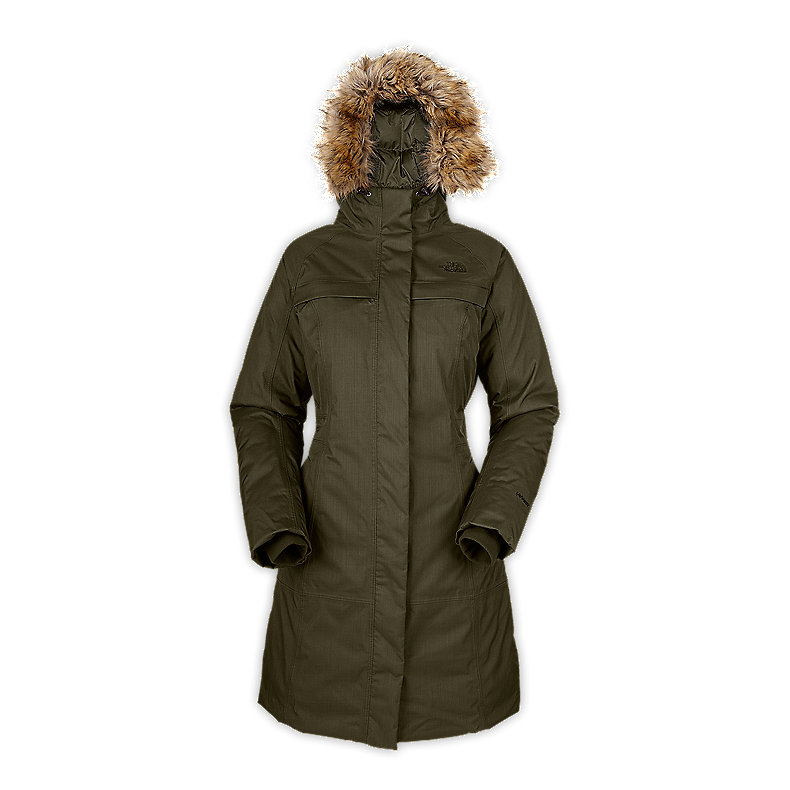 NORTH FACE WOMEN ARCTIC PARKA FIG GREEN