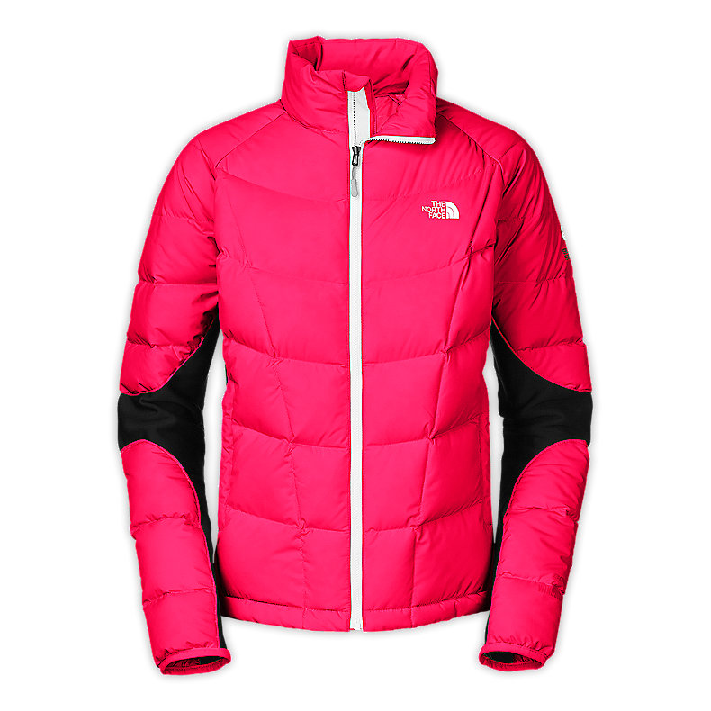 NORTH FACE WOMEN A-BACK HYBRID DOWN JACKET BARBERRY PINK