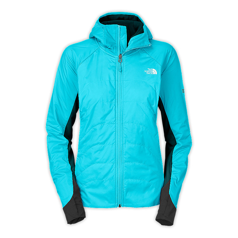 NORTH FACE WOMEN SUPER ZEPHYRUS HOODIE TURQUOISE BLUE / KODIAK BLUE