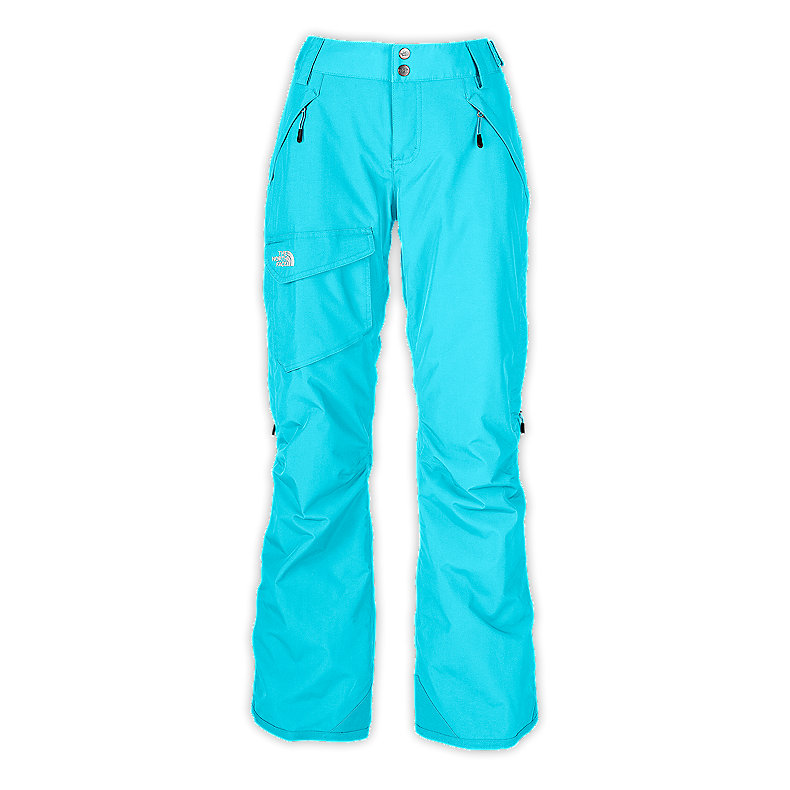 NORTH FACE WOMEN FREEDOM LRBC INSULATED PANT TURQUOISE BLUE