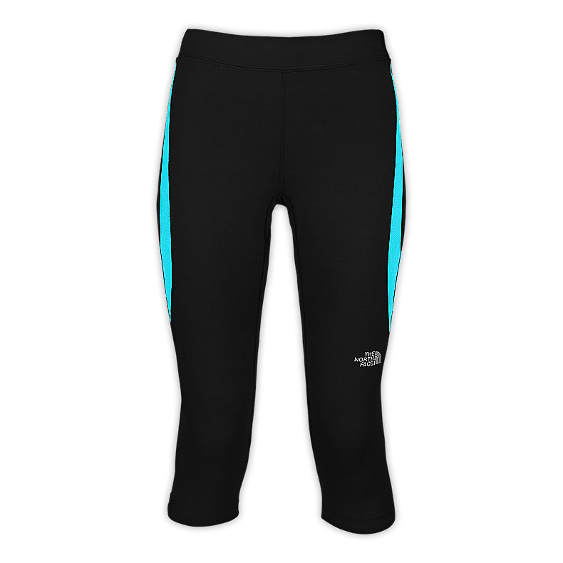 NORTH FACE WOMEN GTD CAPRI TIGHTS TNF BLACK / TURQUOISE BLUE