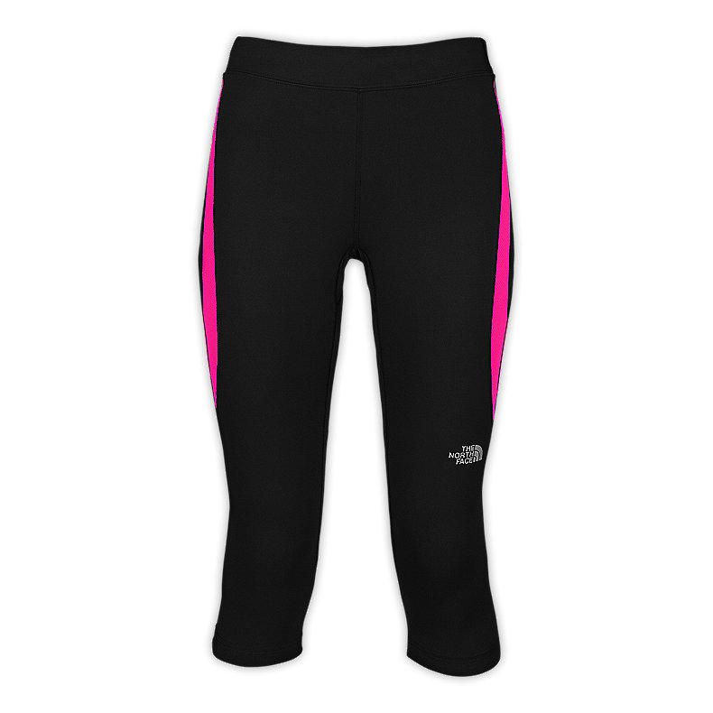 NORTH FACE WOMEN GTD CAPRI TIGHTS TNF BLACK / RAZZLE PINK