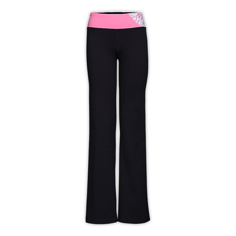 NORTH FACE WOMEN TADASANA VPR PANTS TNF BLACK / CHA CHA PINK