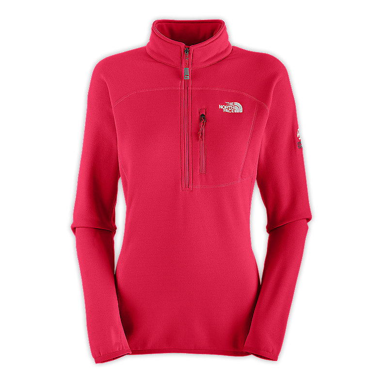 NORTH FACE WOMEN FLUX POWER STRETCH 1/4 ZIP BARBERRY PINK