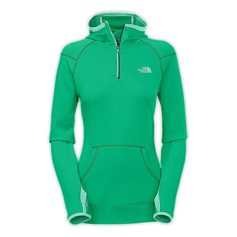 NORTH FACE WOMEN STRETCH NINJA HOODIE LIZZIE GREEN
