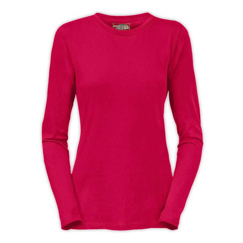 NORTH FACE WOMEN SUEDED CREW BARBERRY PINK