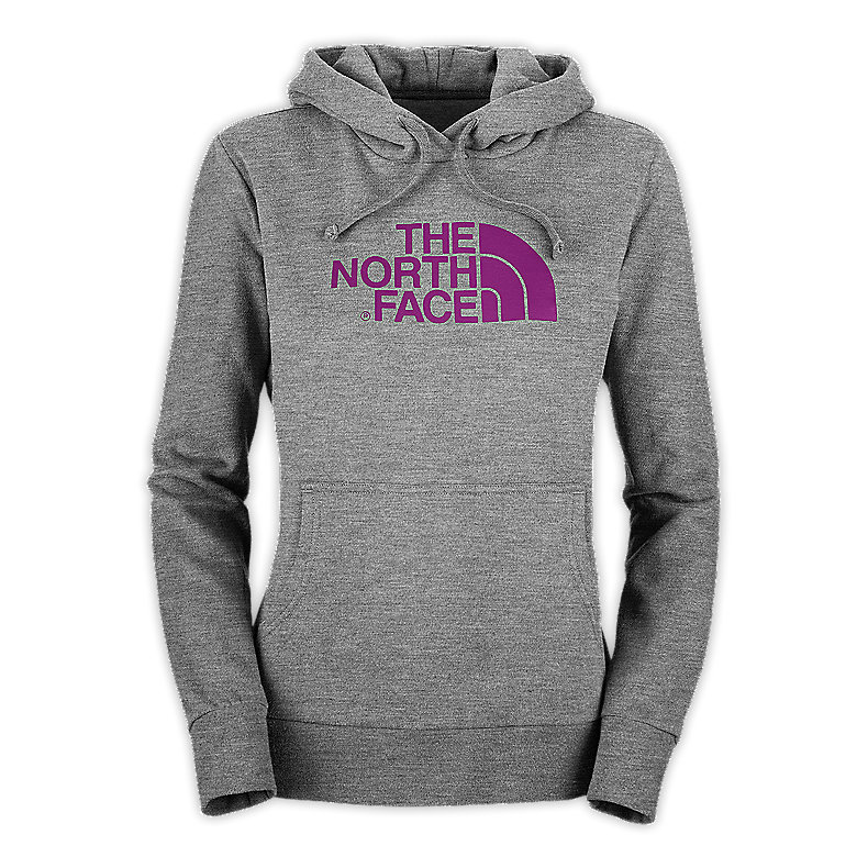 NORTH FACE WOMEN HALF DOME HOODIE HEATHER GREY / PREMIERE PURPLE