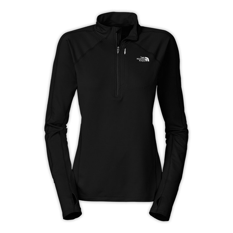 NORTH FACE WOMEN IMPULSE 1/4 ZIP TNF BLACK / TNF BLACK