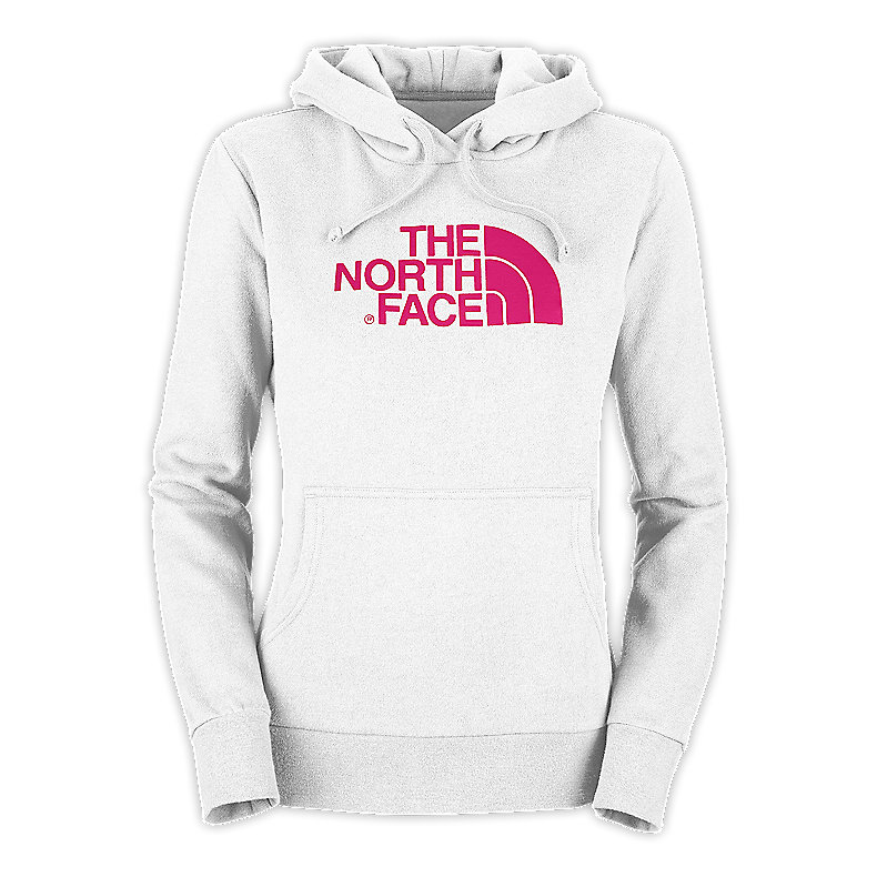 NORTH FACE WOMEN HALF DOME HOODIE TNF WHITE / RAZZLE PINK