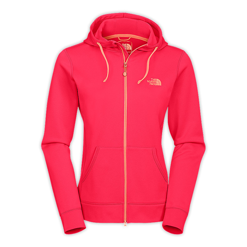 NORTH FACE WOMEN FAVE-OUR-ITE FZ HOODIE TEABERRY PINK