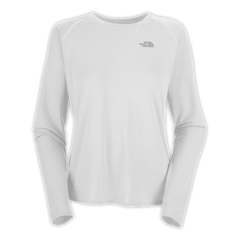 NORTH FACE WOMEN REAXION TEE TNF WHITE / Q-SILVER GREY