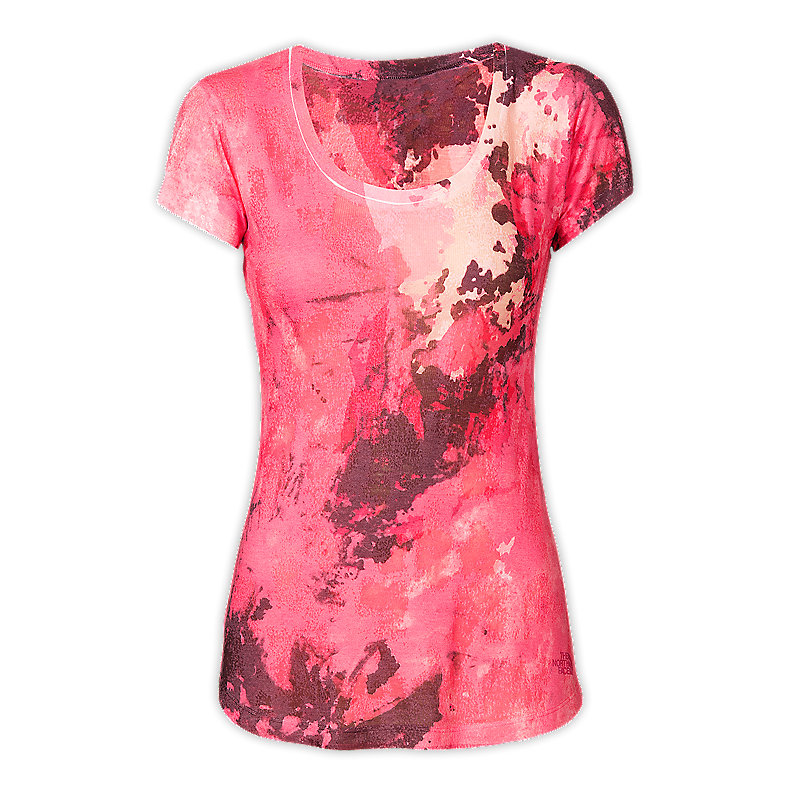 NORTH FACE WOMEN TADASANA SUN RISE TEE TEABERRY PINK SUBLIMATION PRINT