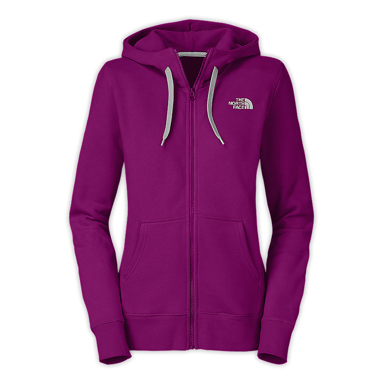 NORTH FACE WOMEN LOGO FULL ZIP PREMIERE PURPLE