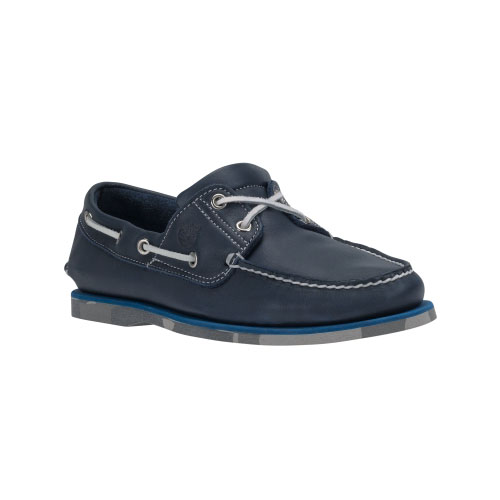 Timberland Mens Earthkeepers 2-Eye Boat Shoes Navy Smooth/Camo