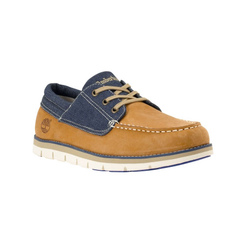 Timberland Mens Harborside 3-Eye Boat Shoes Wheat