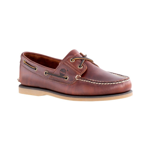Timberland Mens Earthkeepers 2-Eye Boat Shoes Root Beer Smooth