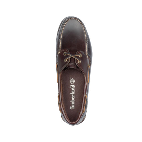 Timberland Mens Earthkeepers Brig 2-Eye Boat Shoes  Dark Brown