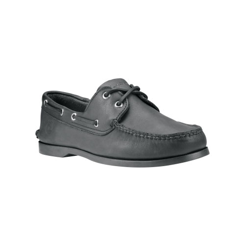 Timberland Mens Earthkeepers Brig 2-Eye Boat Shoes Black