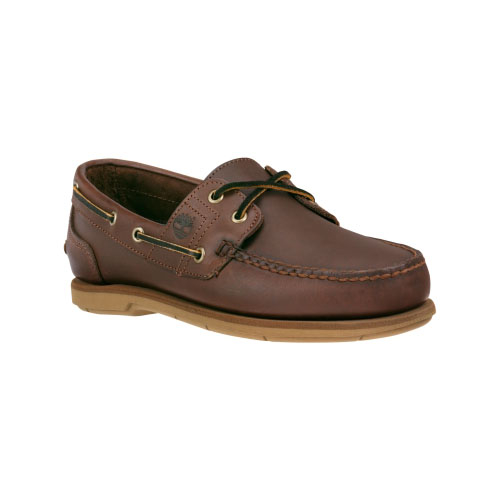 Timberland Mens Earthkeepers 2-Eye Boat Shoes Dark Brown Smooth