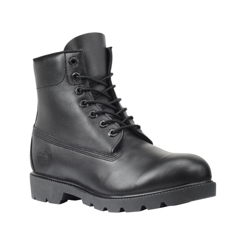 Timberland Mens 6-Inch Basic Waterproof Boots Black Smooth
