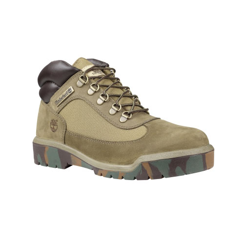 Timberland Mens Classic Field Boots Olive Nubuck/Camo