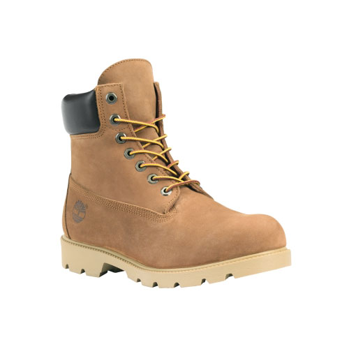 Timberland Mens 6-Inch Basic Waterproof Boots w/Padded Collar Rust Nubuck