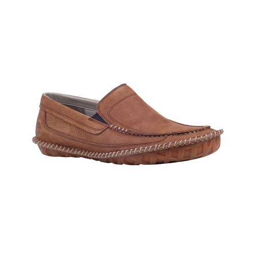 Timberland Mens Earthkeepers Slip-On Lounger Shoes Red Brown Nubuck