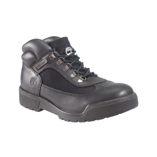 Timberland Mens Classic Field Boots Black Smooth