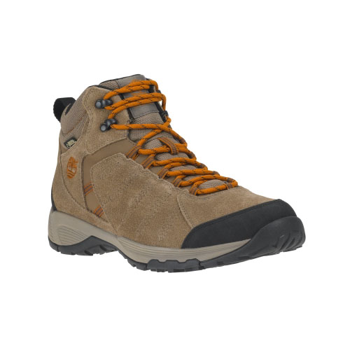 Timberland Mens Tilton Mid Leather Waterproof Hiking Boots Brown