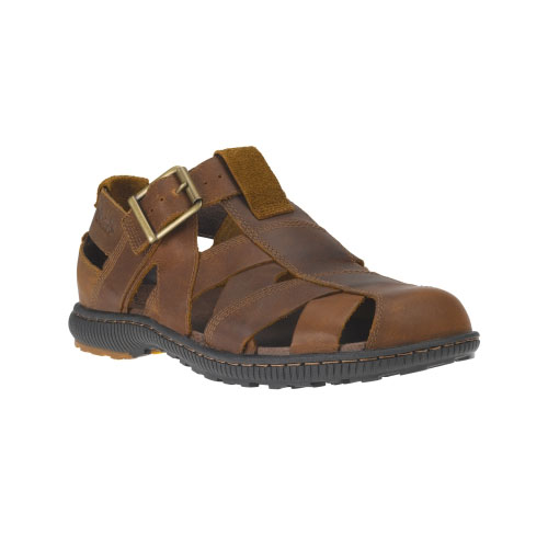 Timberland Mens Hollbrook Leather Fisherman Sandals Brown