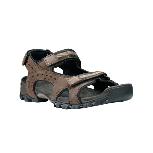 Timberland Mens Wakeby Leather Sandals Dark Brown