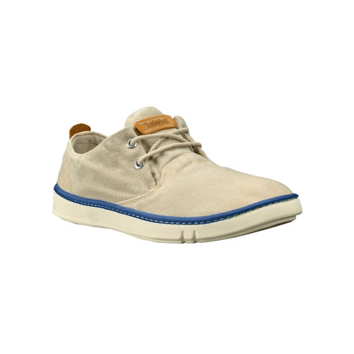 Timberland Mens Earthkeepers Hookset Handcrafted Oxford Shoes Off-White Canvas
