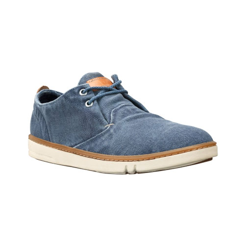 Timberland Mens Earthkeepers Hookset Handcrafted Oxford Shoes Blue Canvas