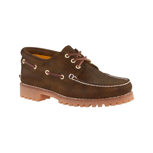 Timberland Mens Earthkeepers 3-Eye Classic Lug Shoes Natural Brown