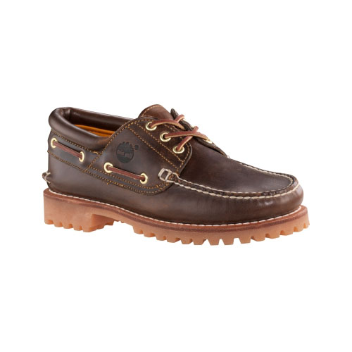 Timberland Mens Earthkeepers 3-Eye Classic Lug Shoes Brown Pull-Up