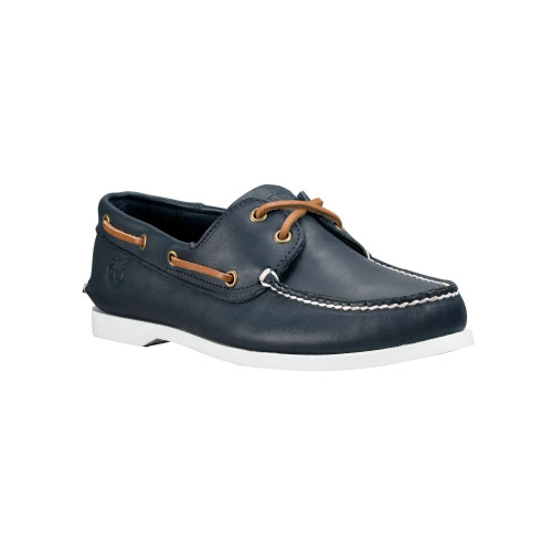 Timberland Mens Earthkeepers Brig 2-Eye Boat Shoes  Navy Smooth