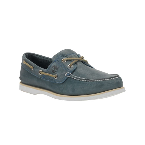 Timberland Mens Earthkeepers 2-Eye Boat Shoes  Light Blue Full-Grain