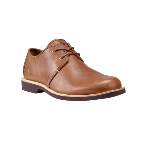 Timberland Mens Earthkeepers Stormbuck Lite Oxford Shoes Red Brown Smooth