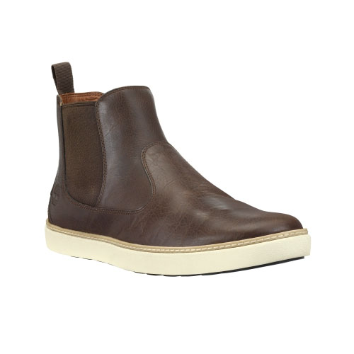 Timberland Mens Earthkeepers Hudston Chelsea Shoes Brown Full-Grain
